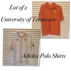2 Men's Adidas University of Tennessee Polo Shirts